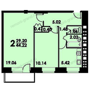 Ремонт двухкомнатной квартиры в Краснодаре недорого