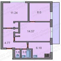 Планировка квартир 1-515/9м. ремонт в 1-515/9м..