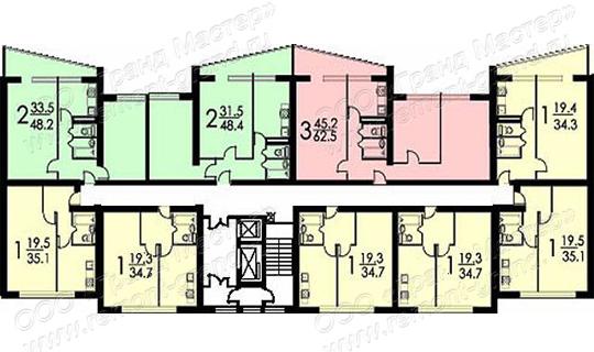 Перепланировка 4 х комнатной квартиры - в хрущевке 504