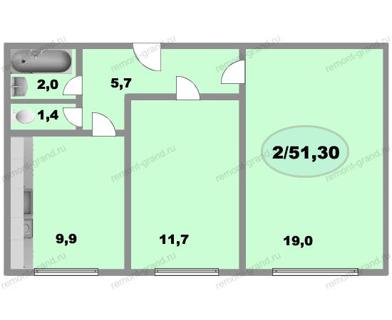 Планировка квартир ii-68-03. ремонт в ii-68-03..