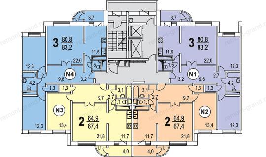 Отделка балконов и лоджий в доме п-111м