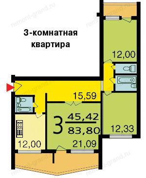 Дома серии п-111м и планировка квартир с размерами.